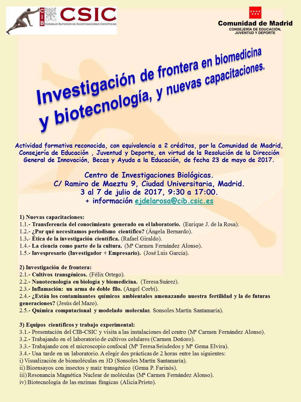 Facilities   Centro de Investigaciones Biológicas - CIB